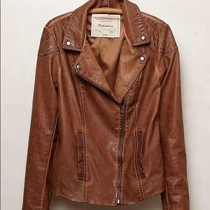 Anthropologie Fayette Vegan Leather Jacket